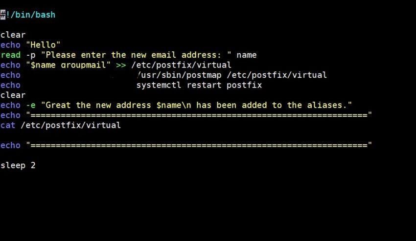 Linux Bash Script